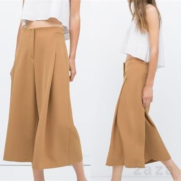 ★ZARA★ザラ  FLOWING CROPPED TROUSERS