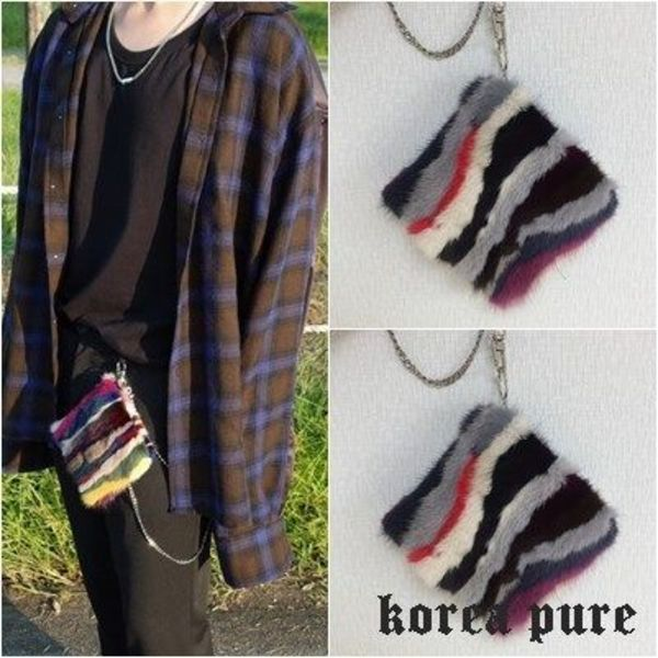 【MISTER CHILD】FUR CHAIN POUCH /ファー チェーン ポーチ