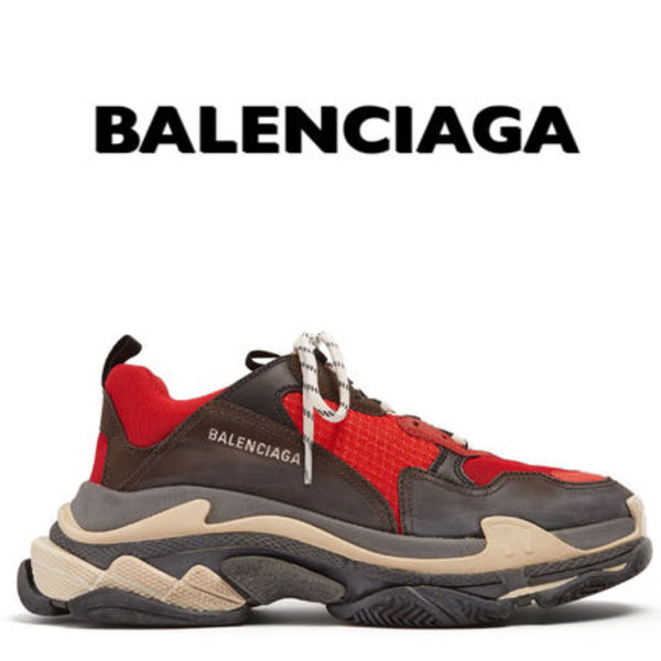 送料関税無料 新色 2018ss BALENCIAGA triple S RED