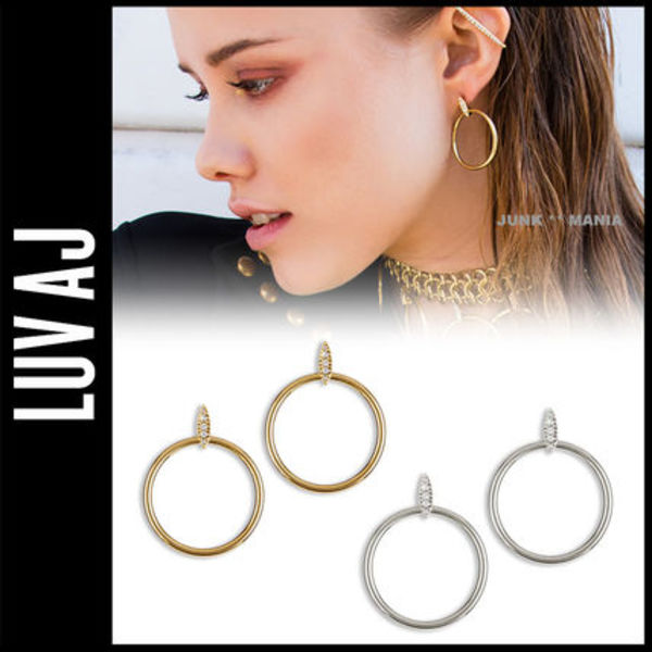 ピアス/The Pave Marquise Hoops