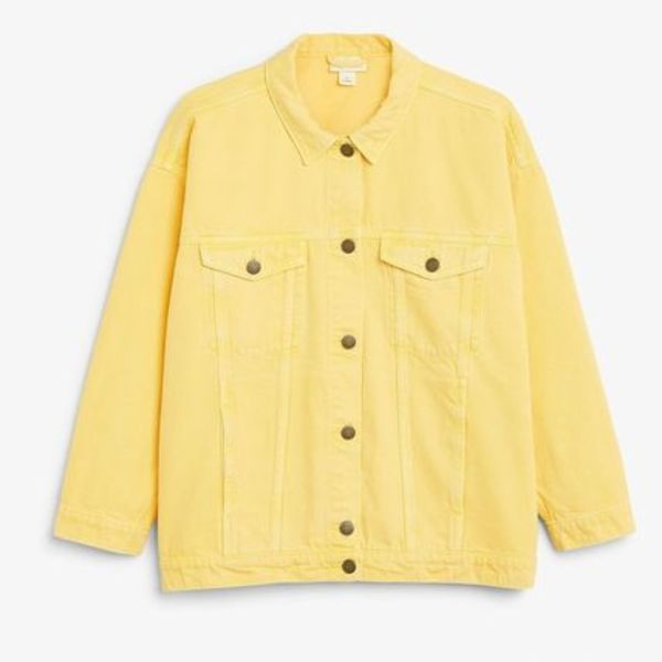 """MONKI""Classic denim jacket Yellow"