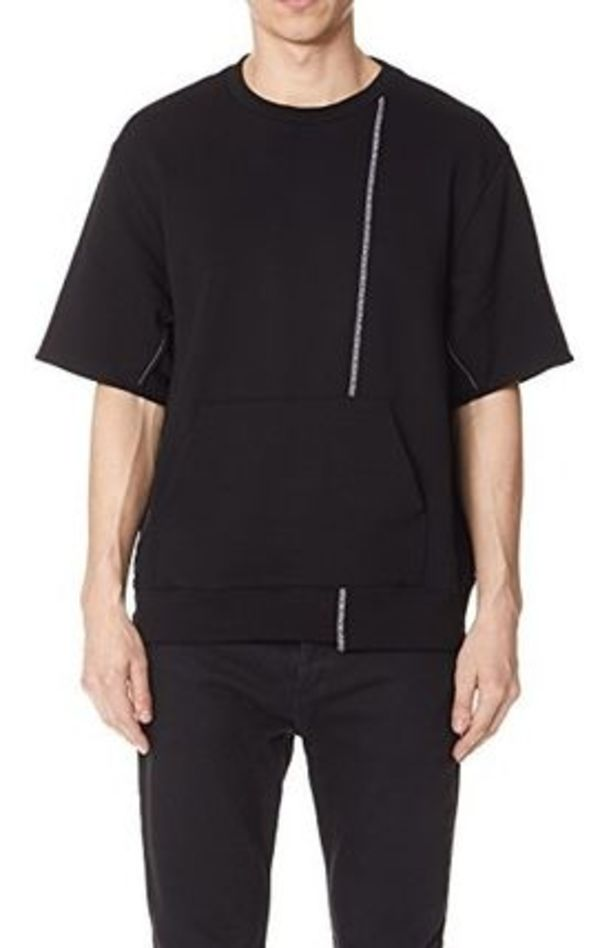 3.1 Phillip Lim SS Re-Constructed Sweatshirt Black