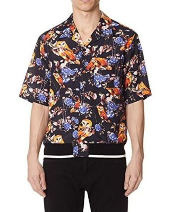 3.1 Phillip Lim Multicolor Surreal Animal Souvenir Shirt