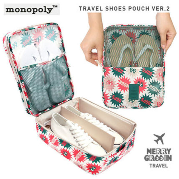 日本未入荷◆monopoly◆MERRYGRIN TRAVEL SHOES POUCH(4種)