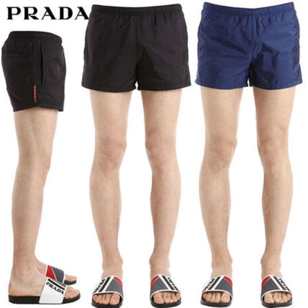 【正規品保証】PRADA★18春夏★NYLON PIUMA SWIM SHORTS