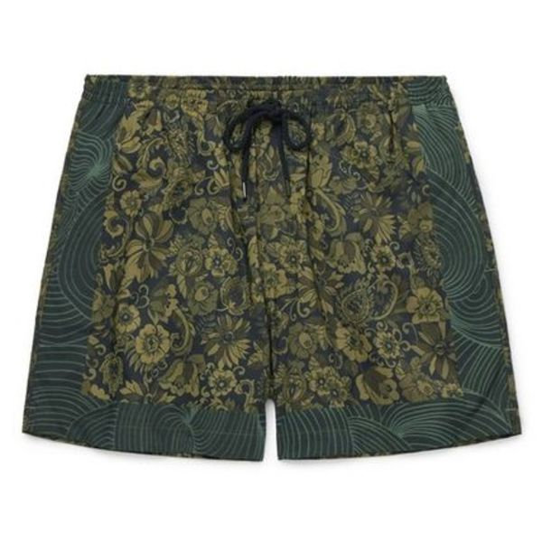 [ Dries Van Noten ] Floral-Print Swim Shorts