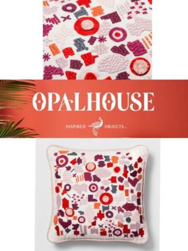 OPALHOUSE 人気クッション Embroidered Square Throw Pillow