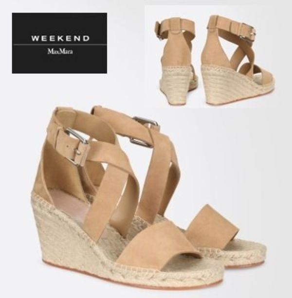 【Weekend Max Mara】Leather sandals