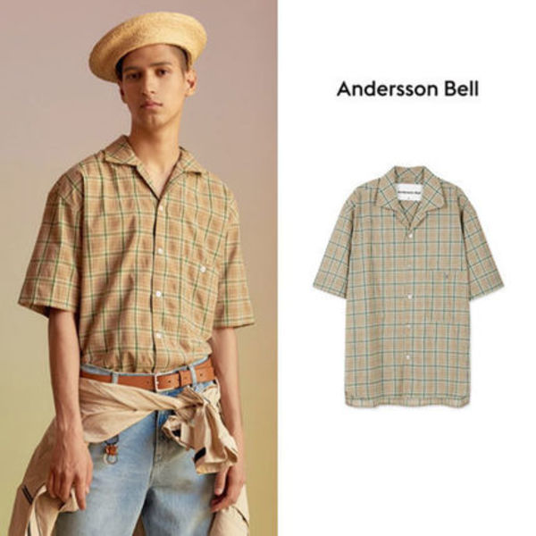 ANDERSSON BELL正規品★18SS デンマークオープンカラーシャツ