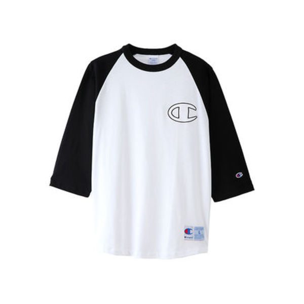 Champion C3-M415 010 3/4 SLEEVE RAGLAN T-SHIRT WHITE