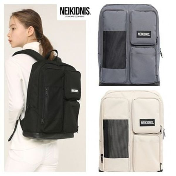 韓国発!NEIKIDNIS☆ MESH SQUARE BACKPACK 全4色 男女兼用