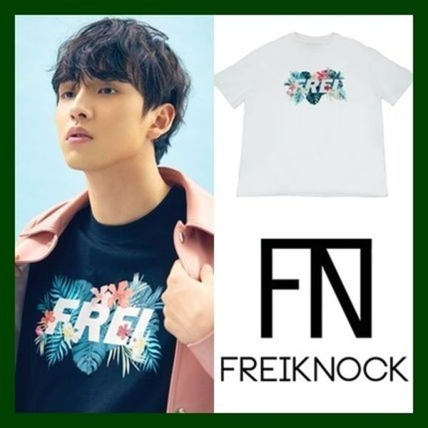 日本未入荷!KPOPスター愛用【FREIKNOCK】FLOWER BASED  LOGO T