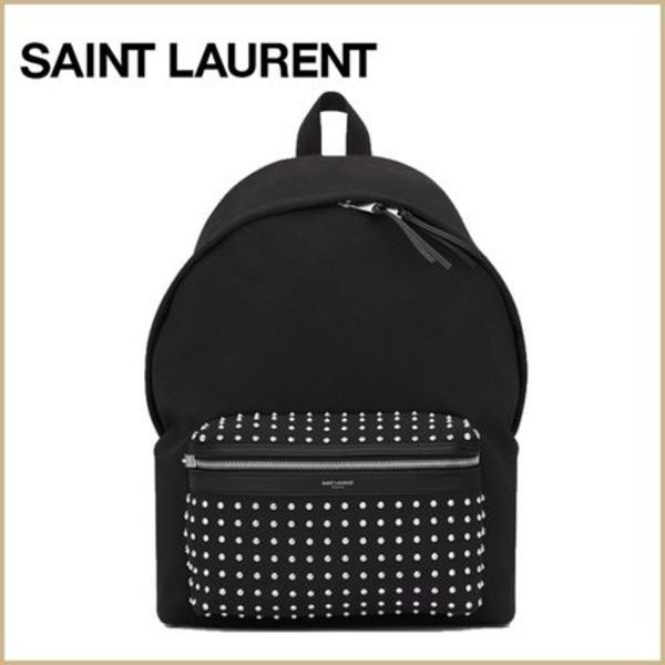 【SAINT LAURENT】 Hunting Studded バックパック  メンズ