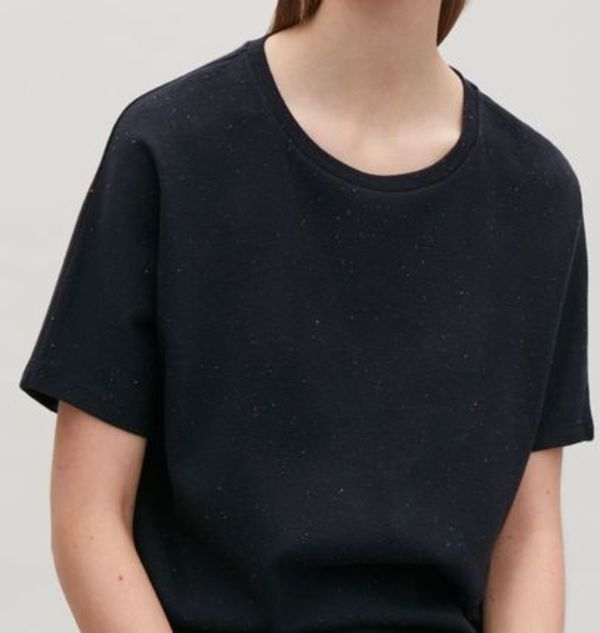 """COS"" OVERSIZED SPECKLED T-SHIRT NAVY"