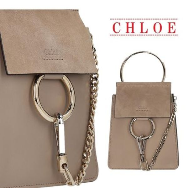 【CHLOE】Faye Mini bag with brass bracelett☆