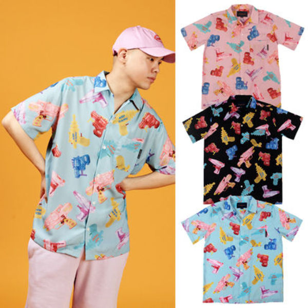 ★A PIECE OF CAKE★総柄シャツ Watergun HawaiianShirts【3色】