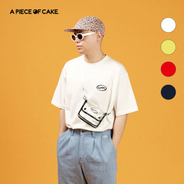 ★A PIECE OF CAKE★ Oval Logo 1/2 T-shirts