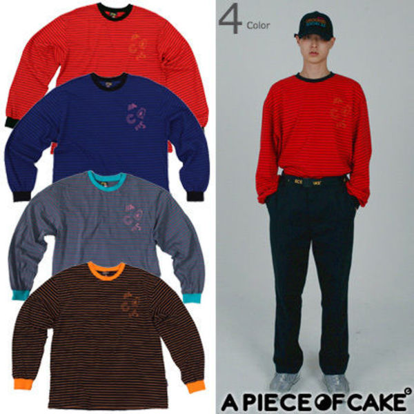 [A PIECE OF CAKE]★韓国 ACS3.0 Stripe Longsleeved T-shirts
