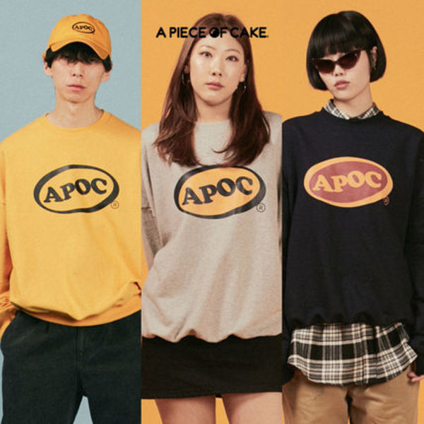 ★A PIECE OF CAKE★ Oval Logo Crewneck