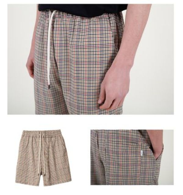 18ss!!DROLE DE MONSIEUR  Houndstooth Short