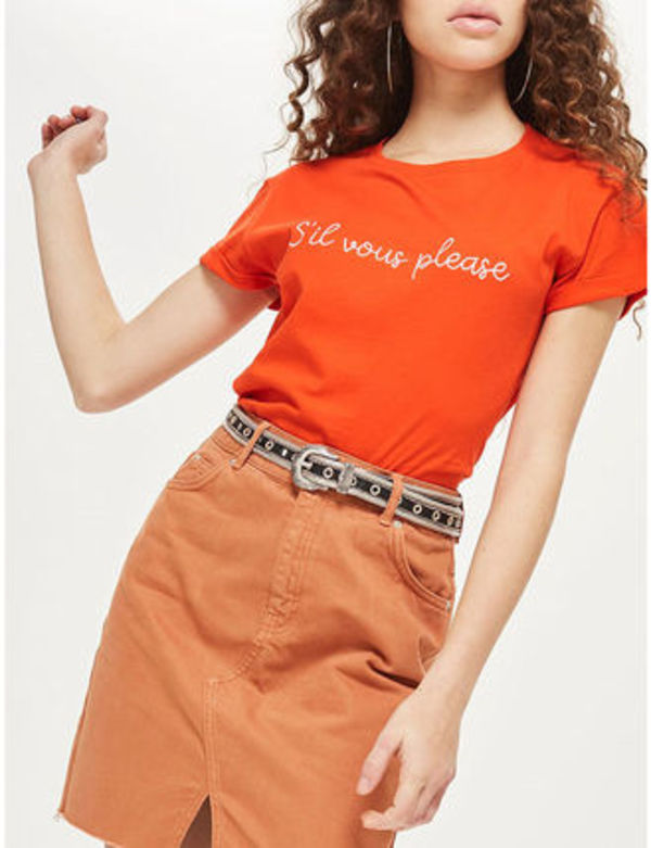 【国内発送・関税込】TOPSHOP★Sil Vous Please cotton T-shirt