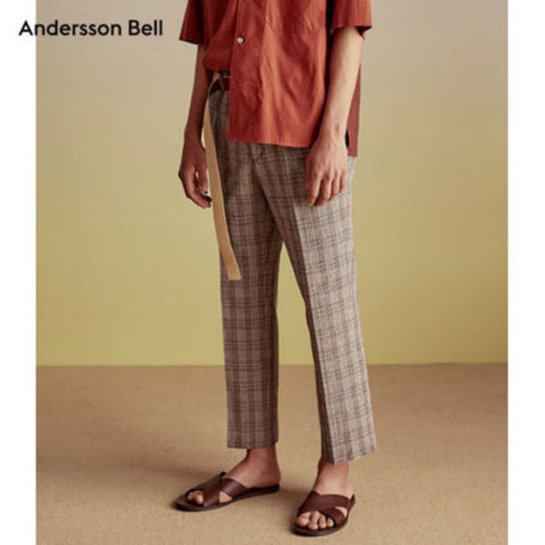 ANDERSSON BELL正規品★エリクソンリネン混パンツ