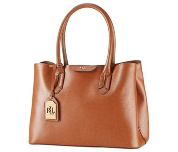 Lauren Ralph Lauren Tate City Shopper -Lauren Tan/Cocoa