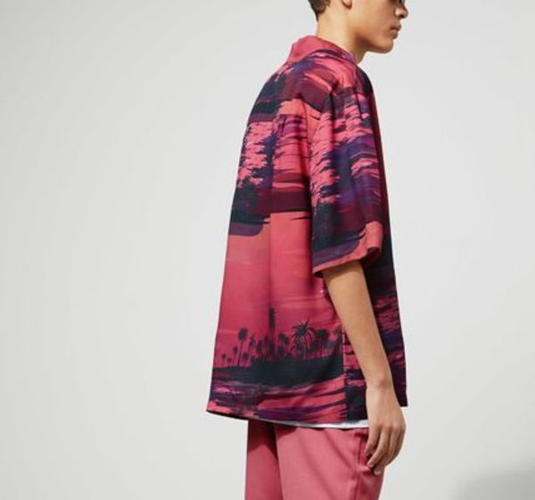 """WEEKDAY MEN'S""Skyway Island Shirt Pink"