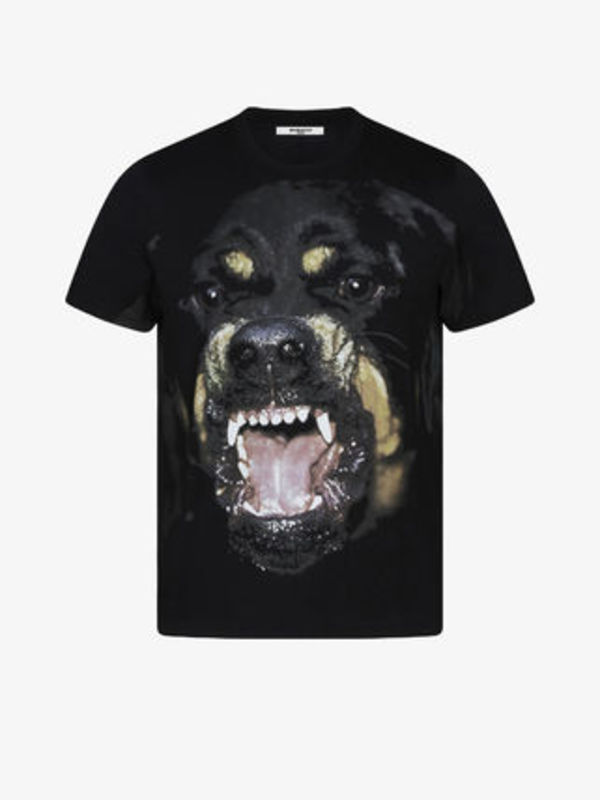 18SS T-shirt oversize con stampa Rottweiler