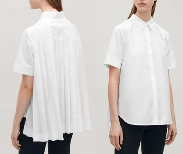 """COS""BACK-PLEATED SHIRT WHITE"