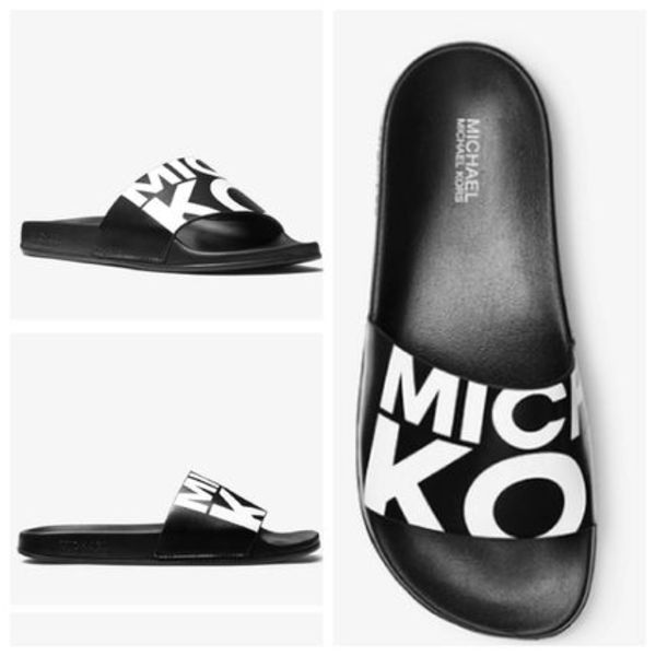 Michael Kors Gilmore Graphic Slide☆グラフィック サンダル