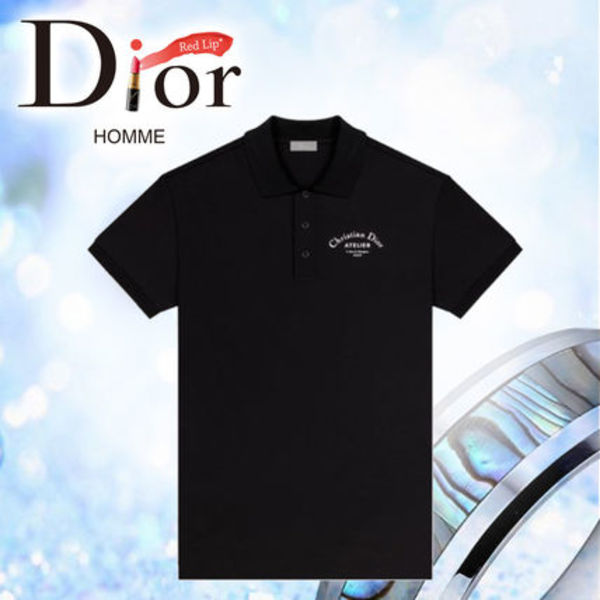 18AW 《DIOR HOMME》 ポロシャツ CHRISTIAN DIOR ATELIER 黒