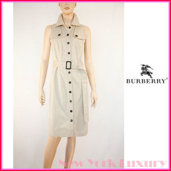 Burberry London★素敵!Beige Trench Dress With Belt