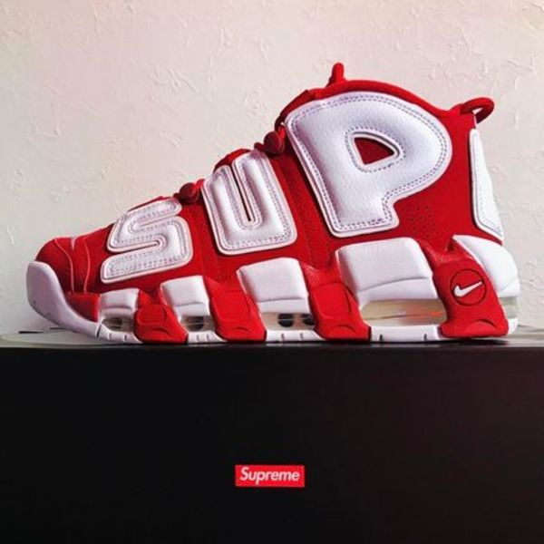 17ss SUPREME X NIKE AIR MORE UPTEMPO  red