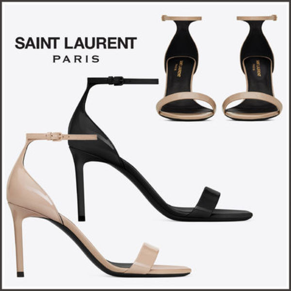 【Saint Laurent】AMBER 85 SANDALS PATENT LEATHER