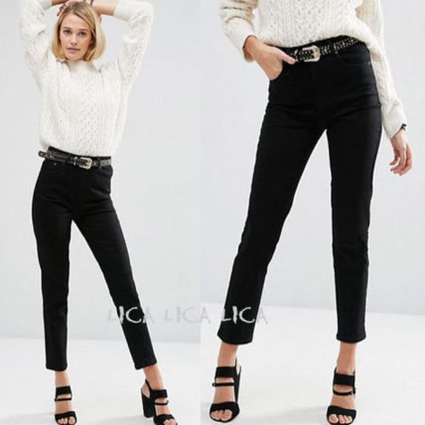 国内発送ASOS FARLEIGH High Waist Slim Mom Jeans