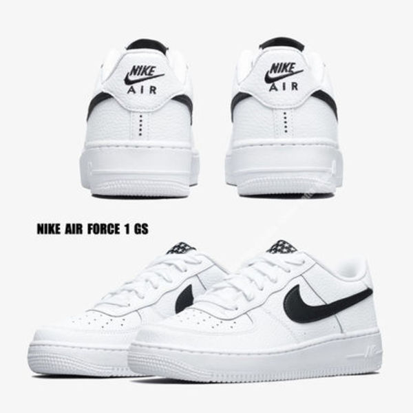 NIKE★AIR FORCE 1 GS★星柄★WHITE&BLACK★22.5~25cm