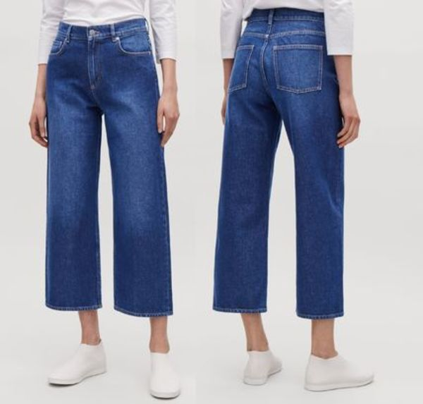 """COS""STRAIGHT CROPPED JEANS BLUE"