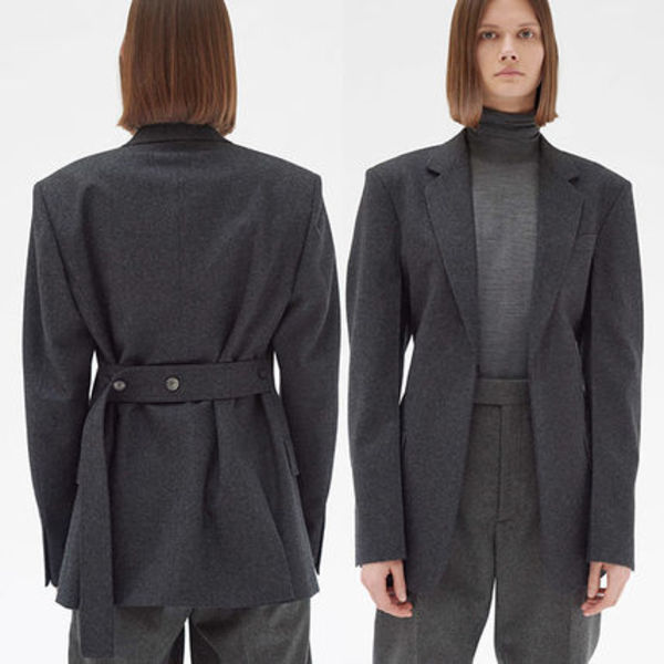 CELINE TAILORED JACKET IN WOOL DRAPE