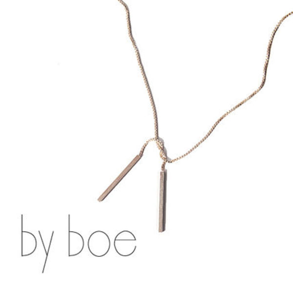by boe(バイボー) Tied Bar Necklace ネックレス ★#464