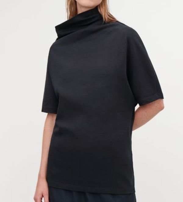 """COS"" ASYMMETRIC T-SHIRT MIDNIGHTBLUE"