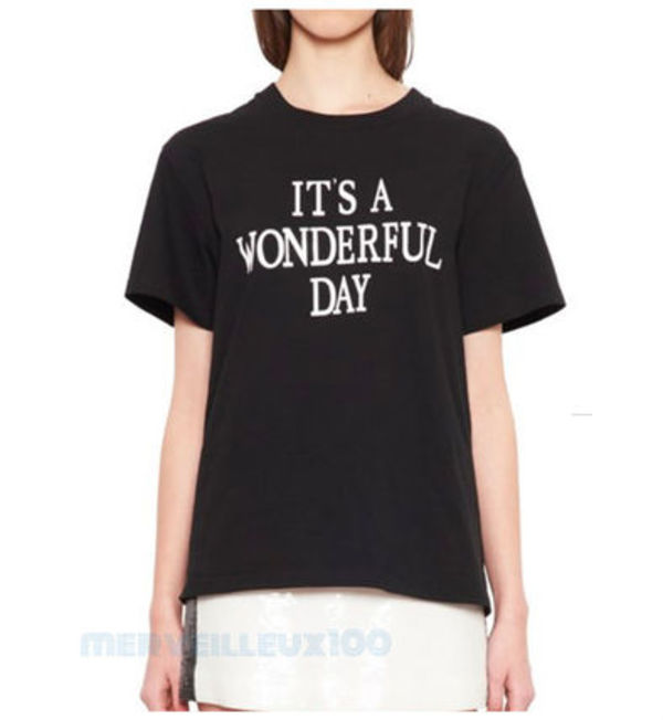 18FW ALBERTA FERRETTI It's A Wonderful Day ブラック Tシャツ