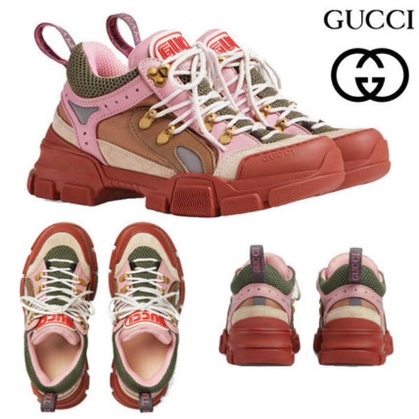 GUCCI グッチ Flashtrek sneaker スニーカー  brown and pink