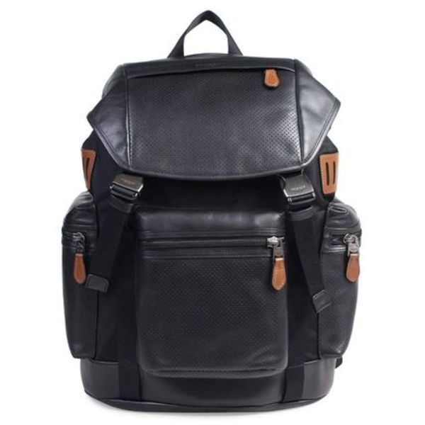 最新コーチ*TELINE PACK PERFOLIATED MIXED MATERIALS BACKPACK