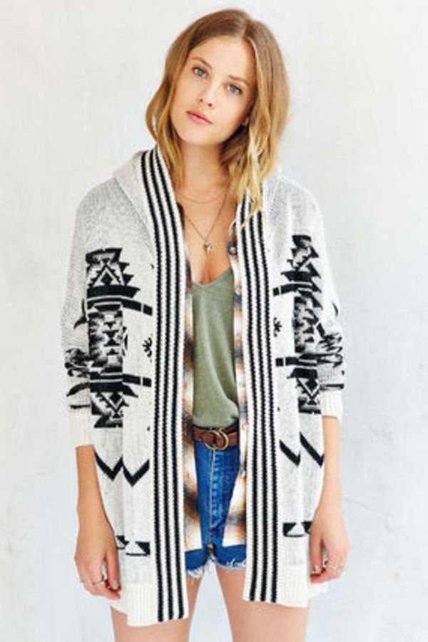 【Ecote】Arianna Patterned Cardigan