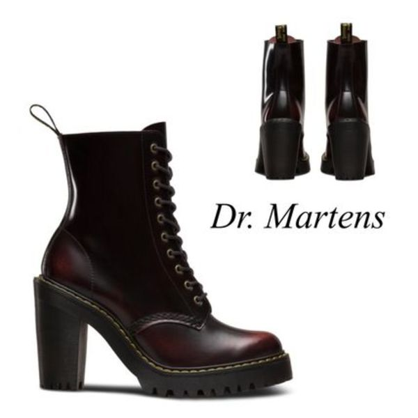 【Dr.Martens】レースアップ レザー ブーツ チェリーレッド