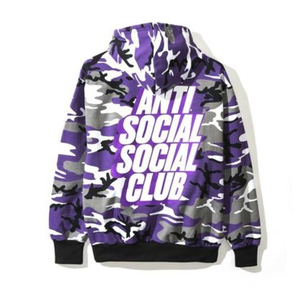 AntiSocialSocialClub / Blocked Purp Hoodie