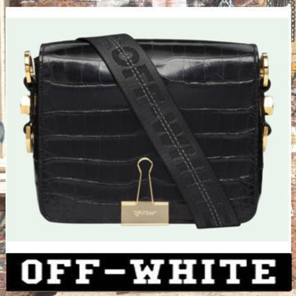 《最新作!!》18AW [OFF-WHITE]CROCODILE BINDER CLIP BAG