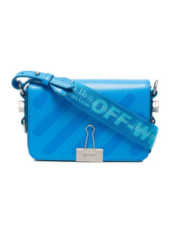 Off-White ★ DIAG MINI FLAP BAG ショルダー ライトブルー