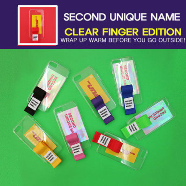 [SECOND UNIQUE NAME] CLEAR FINGER EDITION スマホケース